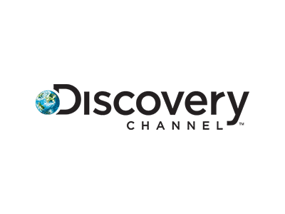 the logo for the discovery channel, which we have worked with