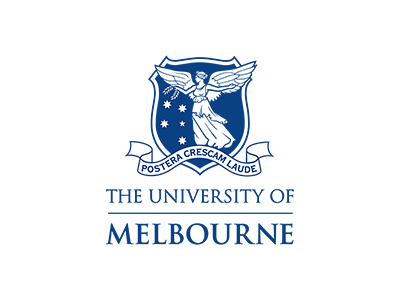 The University of Melbourne logo, a client of the big canvas