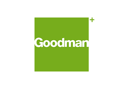 Goodman Limited is an Australian integrated commercial and industrial property group that owns, develops and manages real estate. This is their logo, which is a client of the Big Canvas